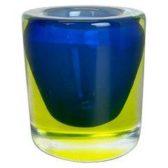 Multi-Color Murano Vetri Glass Sommerso Bowl Shell Ashtray Element, Italy, 1970s