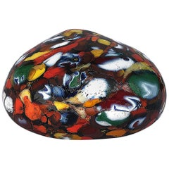 Multi-Color Paperweight in Glass Paste, Murano Glass