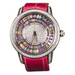 Multi-Color Sapphire and Diamond Watch