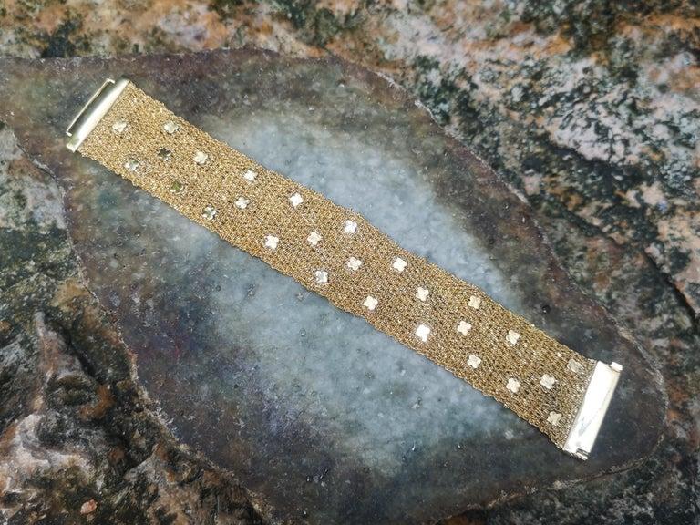 Multi-Color Sapphire Bracelet Set in 18 Karat Gold Settings For Sale 2