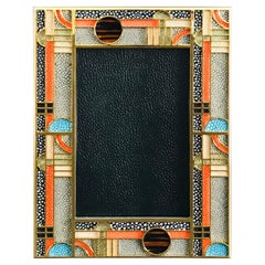 Multi-Color Shagreen Photo Frame by Fabio Ltd