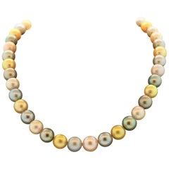 Multi-Color South Sea and Tahitian Pearl Necklace