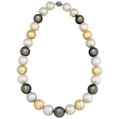 Multi-Color South Sea Pearl Necklace