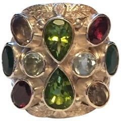 Multi-Color Stone Handcrafted Ring