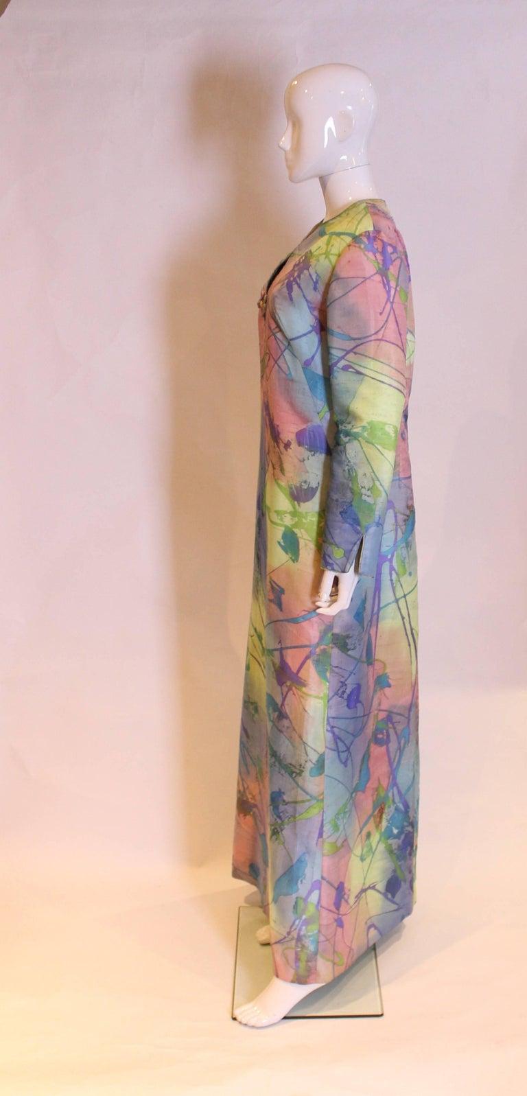 Women's Multi Colour Silk Kaftan Dress For Sale