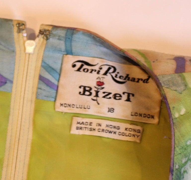 Multi Colour Silk Kaftan Dress For Sale 2