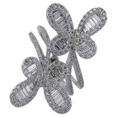 Multi Diamond Double Butterfly Ring