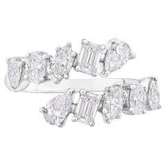 Fancy Shape Diamond Band 1.50 Carats 14 KT White Gold IGI Certified