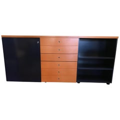 Multi Function Orange and Dark Blue Credenza by Castelijn