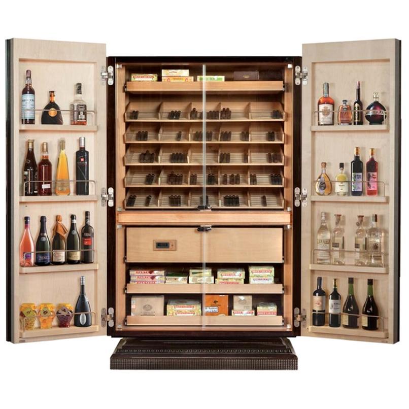 Multi-Functional Cigar Humidor Cabinet, by Massimo de Munari, Handmade in Italy