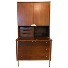 Multi-Functions Walnut Cabinet by Raymond Loewy for Mengel Co.