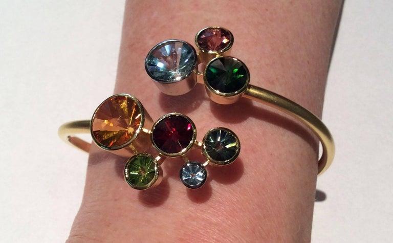 Women's Multi Gem Cuff Bracelet Atelier Munsteiner For Sale