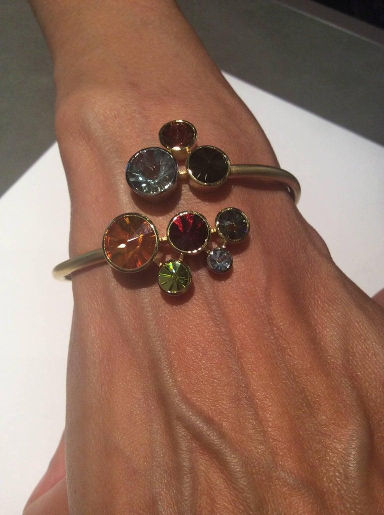 Multi Gem Cuff Bracelet Atelier Munsteiner For Sale 2
