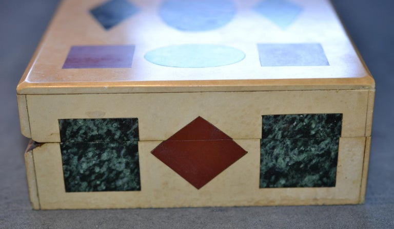 Inlay Multi-Gemstone Intarsia Box Made in Florence, Italy For Sale