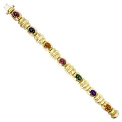 Multi-Gemstone Yellow Gold Bracelet