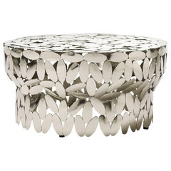 Multi Leaves Coffee Table in Gold Plated or Nickel Finish