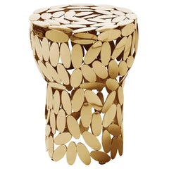 Multi Leaves Side Table in Gold Plated or Nickel Finish