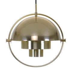 Multi-Lite Extremely Attractive Pendant Lighting by Louis Weisdorf Lyfa in 1974