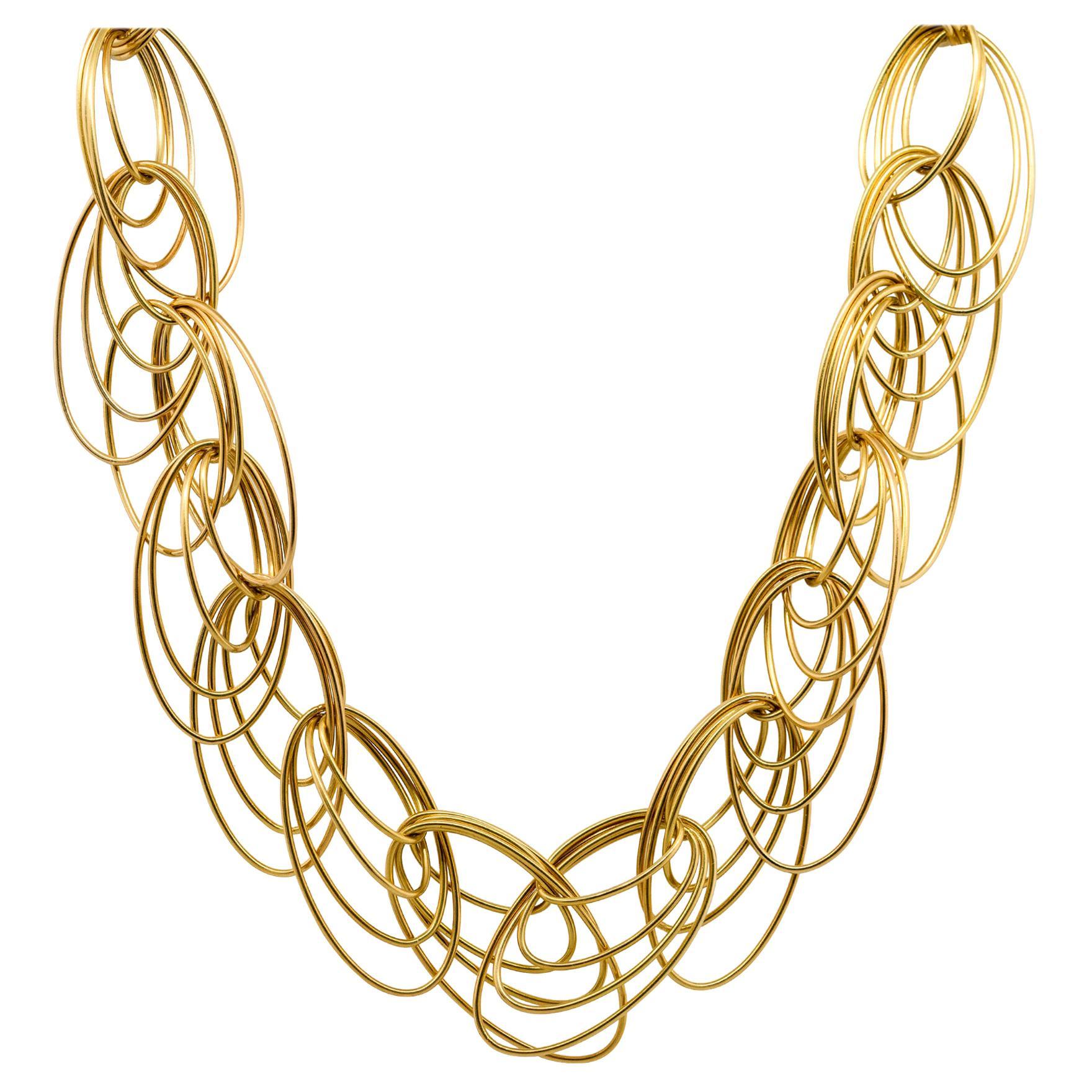 Multi Loop Ladies Necklace 18 Karat in Stock