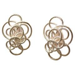 Multi Loop Weave of Silver Braided Metal Clip