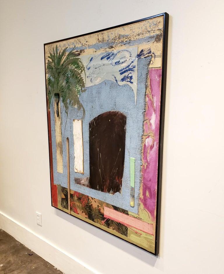 Multi-media painting titled