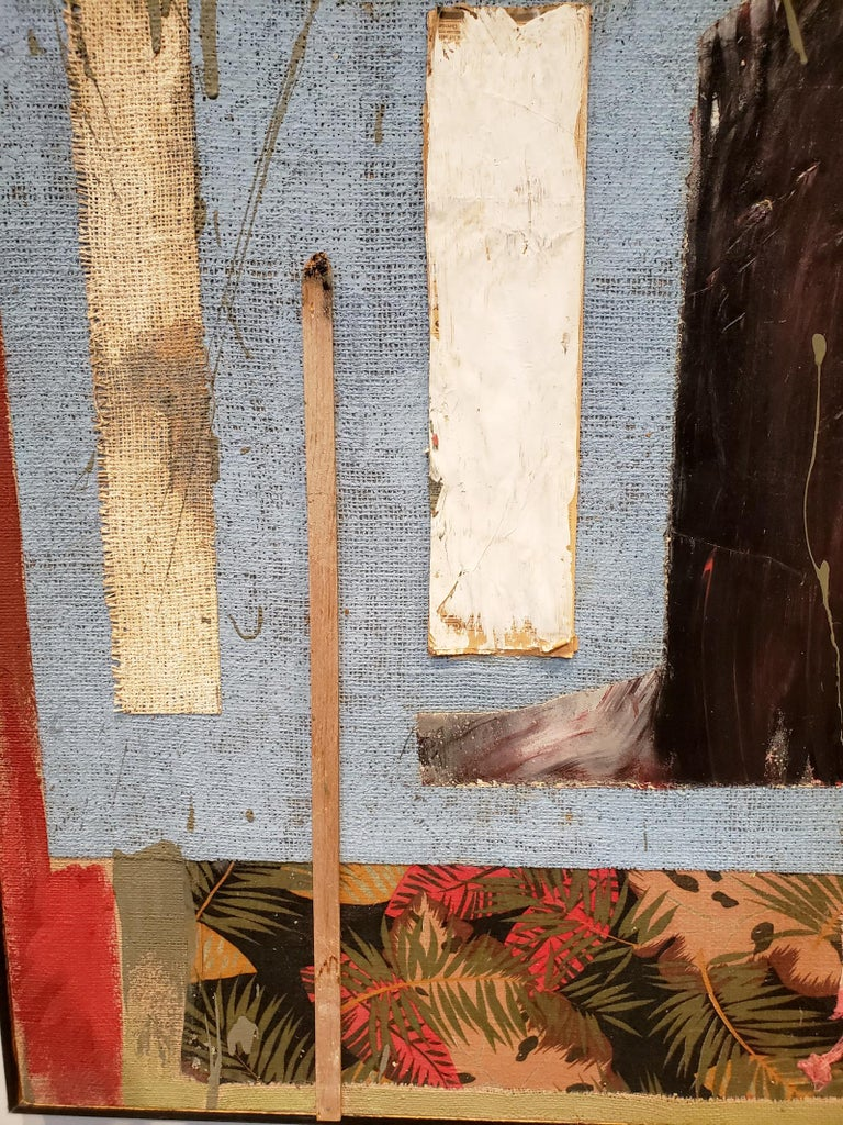American Multi Media Moodscape by Artist Jacques Lamy For Sale