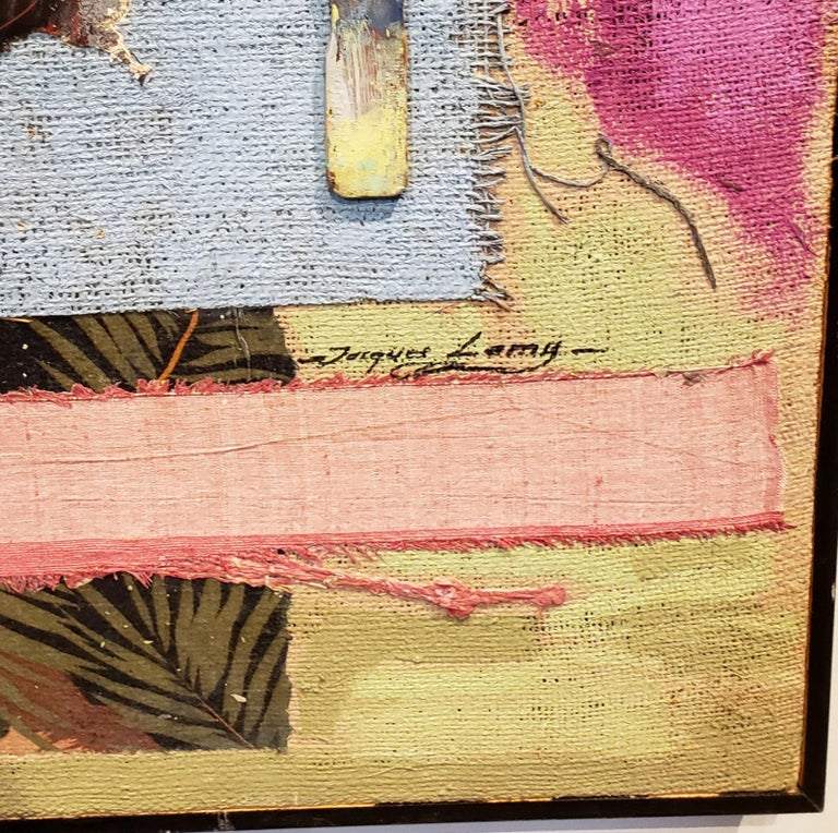 Canvas Multi Media Moodscape by Artist Jacques Lamy For Sale