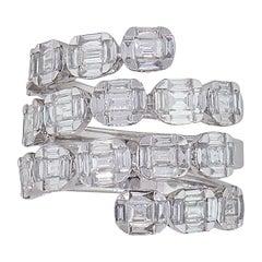 Multi-Row Diamond Wrap Around Ring
