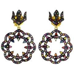 Multi Sapphire Armour Earrings