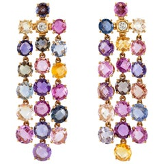 Multi Sapphire Bvlgari Drop Earrings