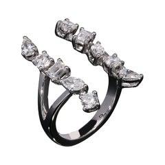 Multi Shape Diamond Cocktail Ring Set in 18Kt Gold