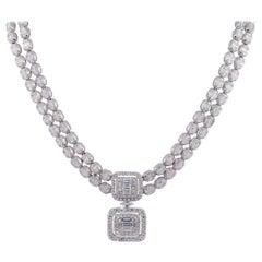 Multi Shape Diamond Dangle Necklace