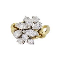 Multi Shape Diamond Freeform Ring