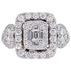 Multi Shape Diamond Mosaic Ring