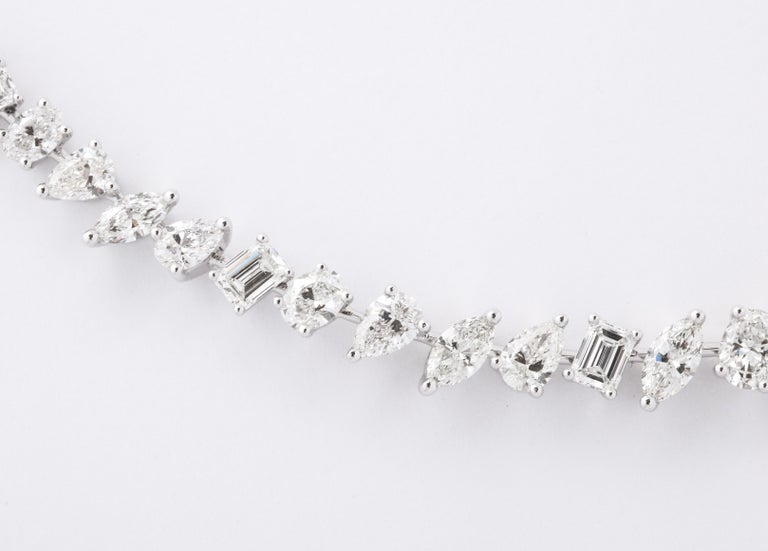 Emerald Cut Multi-Shape Diamond Necklace