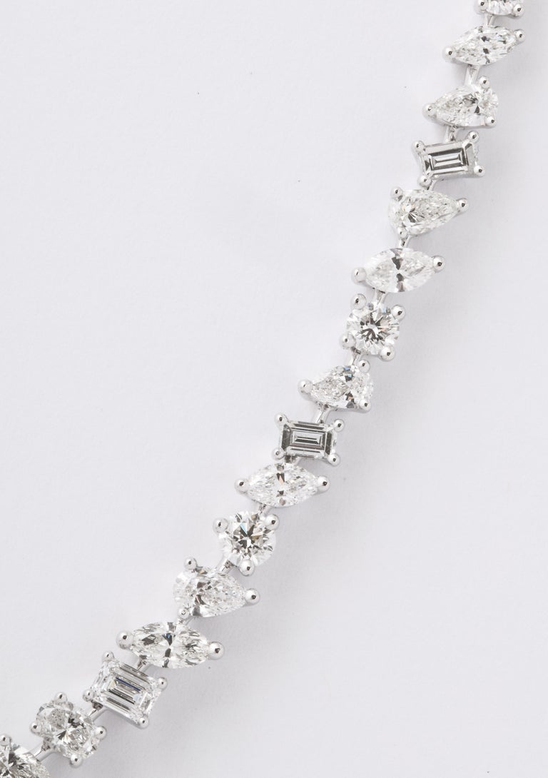 Multi-Shape Diamond Necklace In New Condition In New York, NY
