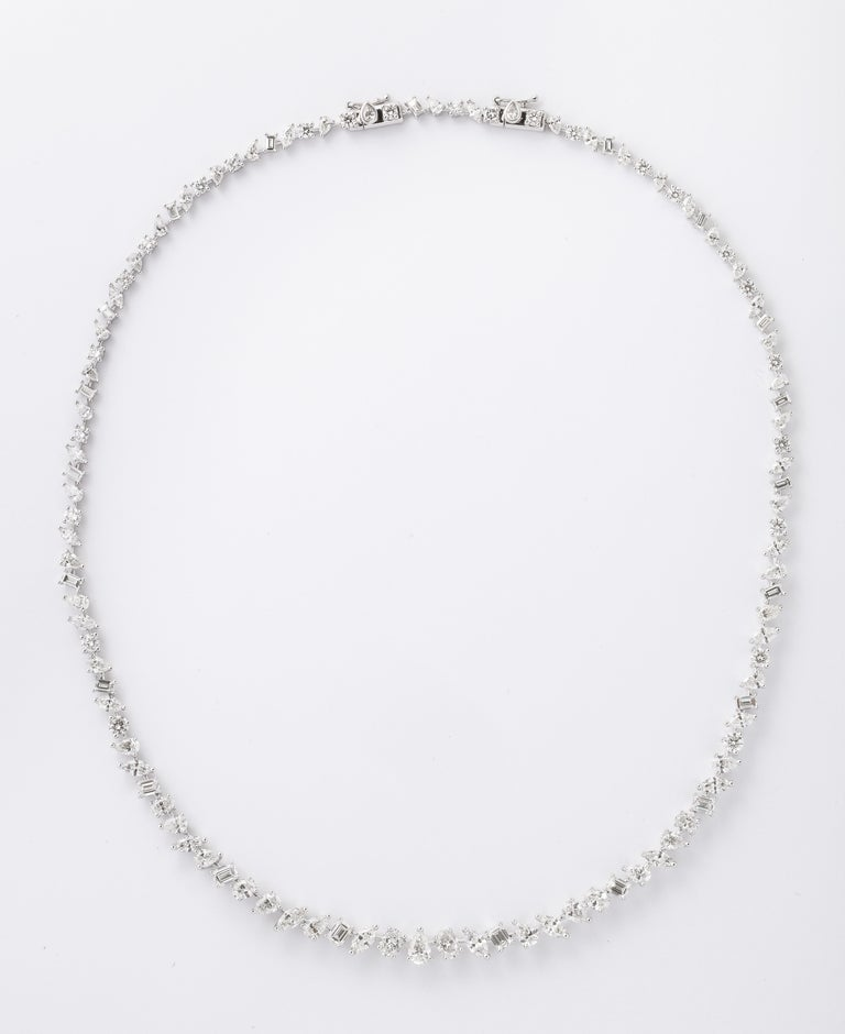 Women's or Men's Multi-Shape Diamond Necklace