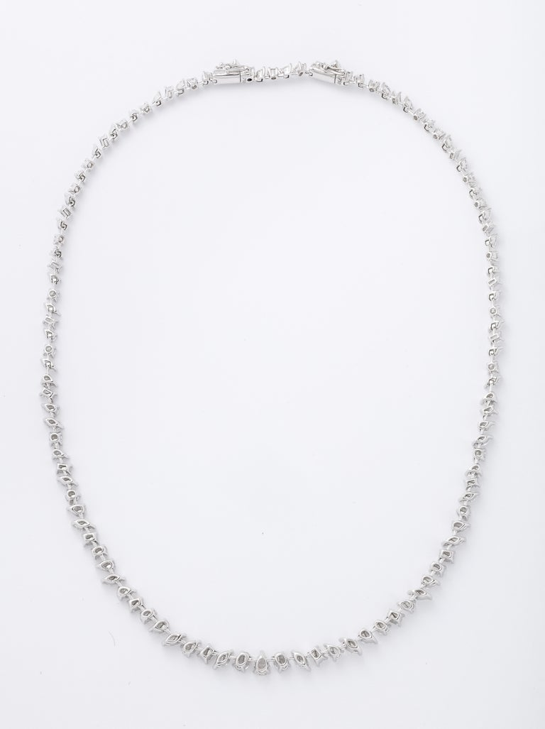 Multi-Shape Diamond Necklace 1