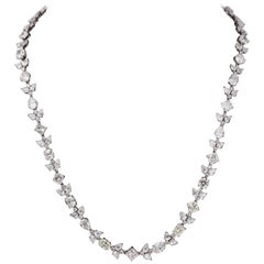 Multi Shape Long Diamond Necklace