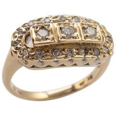Multi Stone Diamond Cluster Ring 9 Karat Gold Hallmarked