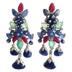 Goshwara Multi-Stone And Diamond Earrings
