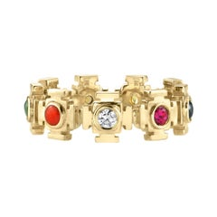 Multi Stone Gold Eternity Ring
