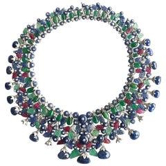 Goshwara Multi-Stone And Diamond Necklace