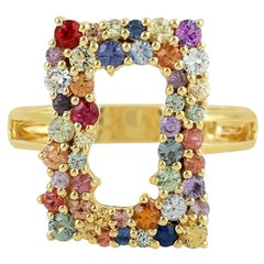 Multi Stone Sapphire 18 Karat Gold Ring