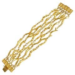 Multi Strand Coral Bracelet