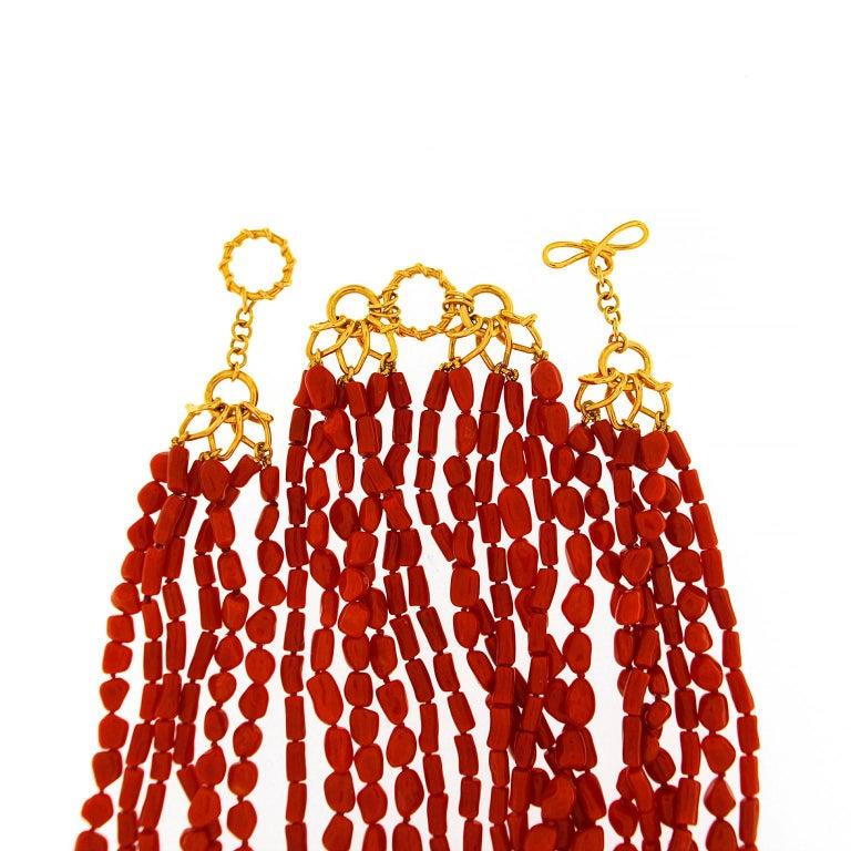 Women's Multi Strand Memmetti Coral Necklace For Sale