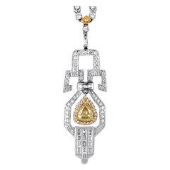 Multi-Tone Gold and Diamond Pendant Necklace