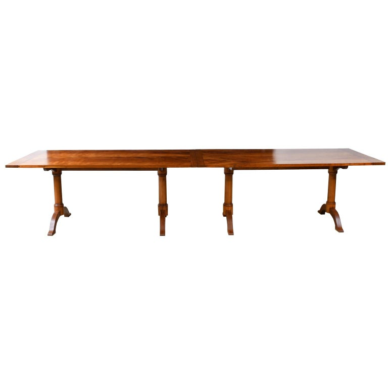 Oiled Bonnin Ashley Custom-Made  Multi-Use  Square or Rectangular Dining Table For Sale