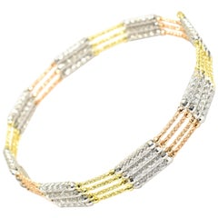 Multi-Use Magnetic Bracelet-Necklace Made in 18 Karat Yellow/White/Rose Gold