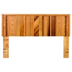 Multi-Veneer Canadian Brutalist Queen or Double Bed Headboard